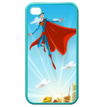 iPhone 4S case superman fly Custom Cases for Iphone 4,4s (Blue)