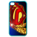 iPhone 4S case superman logo and leaf Custom Cases for Iphone 4,4s (Blue)