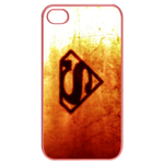 iPhone 4S case superman logo-golden background Cases for  Iphone 4,4s(Pink)