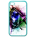 iPhone 4S case superman logo splash-ink Custom Cases for Iphone 4,4s (Blue)