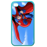 iPhone 4S case superman-prepare for the battle Custom Cases for Iphone 4,4s (Blue)