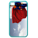 iPhone 4S case superman's red coat armor Custom Cases for Iphone 4,4s (Blue)