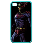 iPhone 4S case superman skeleton Custom Cases for Iphone 4,4s (Blue)