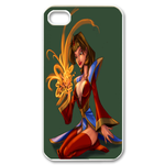 Dota Lina Inverse on Green Custom iPhone 4,4S Case Custom Case for iPhone 4,4S  