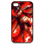 Dota Lina Inverse on Red Custom iPhone 4,4S Case Custom Case for iPhone 4,4S