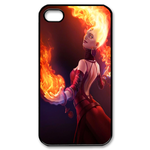 Flaming-Haired Dota 2 Hero Custom iPhone 4,4S Case Custom Case for iPhone 4,4S  