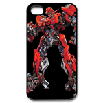 Red Transformers Custom iPhone 4,4S Case Custom Case for iPhone 4,4S