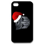 Transformers-Merry Christmas-Custom iPhone 4S Case Custom Case for iPhone 4,4S
