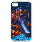 Dota 2 Series on Blue Custom iPhone 4,4S Case Custom Case for iPhone 4,4S