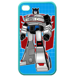 Jazz Transformers iPhone 4,4S Case (Blue) Custom Cases for Iphone 4,4s (Blue)