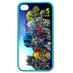 Little Transformers Custom iPhone 4,4S Case (Blue) Custom Cases for Iphone 4,4s (Blue)