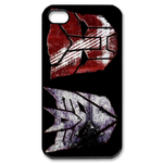 Transformers Faded Logos Custom iPhone 4,4S Case Custom Case for iPhone 4,4S