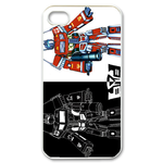 Transformers White & Black Custom iPhone 4,4S Case Custom Case for iPhone 4,4S