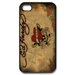 Ed Hardy Love Kills Slowly Signature iPhone Case Custom Case for iPhone 4,4S