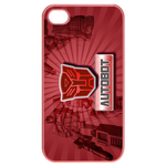Red Transformers Autobot Custom iPhone 4,4S Case Cases for  Iphone 4,4s(Pink)