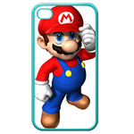 iphone 4s cases cool mario Custom Cases for Iphone 4,4s (Blue)