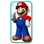 iphone 4s cases cool super mario Custom Cases for Iphone 4,4s (Blue)