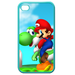 iphone 4s cases happy go Custom Cases for Iphone 4,4s (Blue)