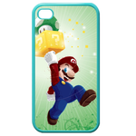 iphone 4s cases happy mario Custom Cases for Iphone 4,4s (Blue)