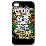 Ed Hardy - Gamble Life - Custom iPhone 4,4S Case Custom Case for iPhone 4,4S  