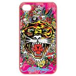 Ed Hardy Tiger Custom iPhone 4,4S Case (Pink) Cases for  Iphone 4,4s(Pink)