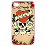 Ed Hardy Love Kills Slowly Skull iPhone 4 Case Cases for  Iphone 4,4s(Pink)