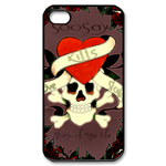 Ed Hardy-Story of my Life-Custom iPhone 4,4S Case Custom Case for iPhone 4,4S
