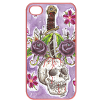 Ed Hardy-Love Kills-Dagger in Skull iPhone 4 Case Cases for  Iphone 4,4s(Pink)