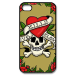 Ed Hardy Love Kills Slowly Green iPhone 4S Case Custom Case for iPhone 4,4S