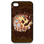Ed Hardy Skull with Flowers in Hair iPhone 4S Case Custom Case for iPhone 4,4S
