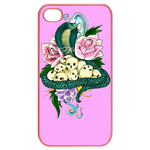 Ed Hardy Snake&Skulls Custom iPhone 4,4S Case Cases for  Iphone 4,4s(Pink)