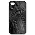 iphone 4s case black jean print Custom Case for iPhone 4,4S