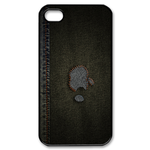 iphone 4s case  black jean style design Custom Case for iPhone 4,4S