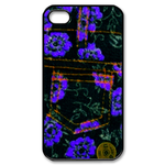 iphone 4s case purple  flower jean design Custom Case for iPhone 4,4S