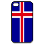 Flag of Iceland Custom iPhone 4,4S Case Custom Case for iPhone 4,4S