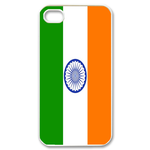 Flag of India Custom iPhone 4,4S Case Custom Case for iPhone 4,4S