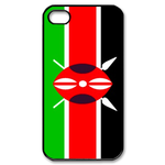 Flag of Kenya Custom iPhone 4,4S Case Custom Case for iPhone 4,4S