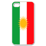 Flag of Kurdistan Custom iPhone 4,4S Case Custom Case for iPhone 4,4S