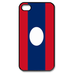 Flag of Laos Custom iPhone 4,4S Case Custom Case for iPhone 4,4S