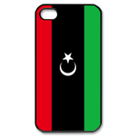 Flag of Libya Custom iPhone 4,4S Case Custom Case for iPhone 4,4S