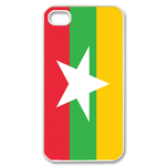 Flag of Myanmar Custom iPhone 4,4S Case Custom Case for iPhone 4,4S