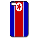 Flag of North Korea Custom iPhone 4,4S Case Custom Case for iPhone 4,4S