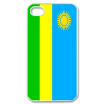 Flag of Rwanda Custom iPhone 4,4S Case Custom Case for iPhone 4,4S