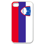 Flag of Slovenia Custom iPhone 4,4S Case Custom Case for iPhone 4,4S