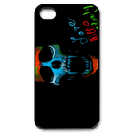 Ed Hardy Blue&amp;Orange Skull Custom iPhone 4,4S Case Custom Case for iPhone 4,4S  