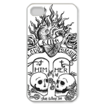 Ed Hardy Love Killed Both Custom iPhone 4,4S Case Custom Case for iPhone 4,4S