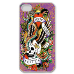 Ed Hardy New York City Custom iPhone 4,4S Case Custom Case for iPhone 4,4S