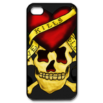 Ed Hardy Single Skull Head Close-Up iPhone 4S Case Custom Case for iPhone 4,4S