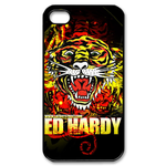 Ed Hardy Snarling Tiger Custom iPhone 4,4S Case Custom Case for iPhone 4,4S