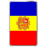 kindle fire case flag of Andorra Hard Cover Case for Kindle Fire